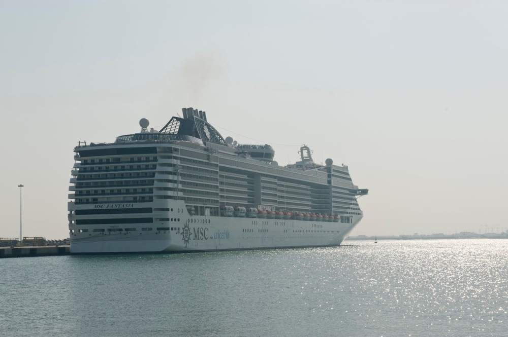 MSC Fantasia in Doha - Photo credit: Mwani Qatar